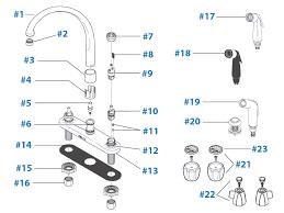kitchen faucet diagram extremely creative delta kitchen faucets parts faucet 2276 lhp h24