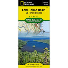 Tahoe Map 803 Lake Tahoe Basin Us Forest Service Trail Map National