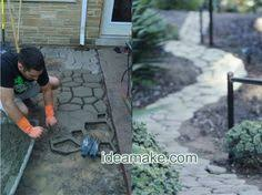 Diy Cement Patio by How To Make Concrete Pavers Out Of Pizza Boxes Pizza Boxes