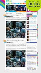 premium magazine blog template home page psd for free download