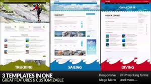 volare trekking sailing diving wordpress theme themeforest