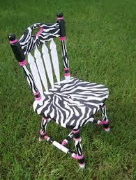 Zebra Print Desk Chair Sold Special Order Girls Zebra Print Pink Black By 1nightstand