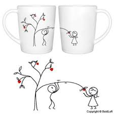 His And Her Mug Buy Boldloft From My Heart To Yours Couple Coffee Mugs His And