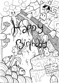 free happy birthday coloring pages az coloring pages clip art
