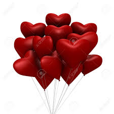 heart shaped balloons heart shaped balloons a 3d image stock photo picture and