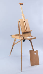 rolling mobile wooden french sketchbox art artist easel painting