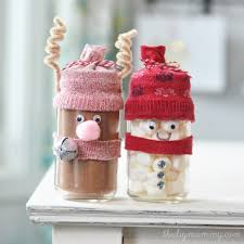 make chocolate reindeer and snowman jar gifts u2013 a kid u0027s craft