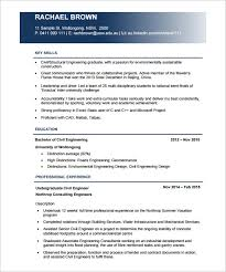 Best Engineering Resume Template Stunning Civil Engineering Resume 9 Best Civil Engineer Resume