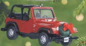 2001 jeep wrangler sport 4 0l hallmark ornament at ornament mall