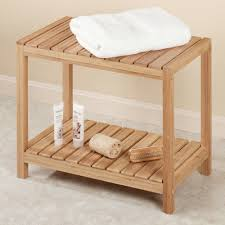 bamboo spa bench for our spa bathroom time to redecorate