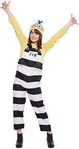 minion costume prisoner minion costume for women height 155 165cm 37086 ebay