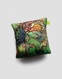 silk peacock home decor 5 x 5 pillow peacock home decor green cushion with bird print art