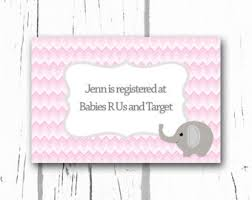 registry for baby shower baby shower invitation registry card baby bird