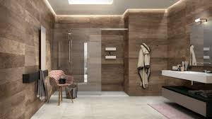 this rustic bathroom design above has walls covered with wood