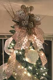 tree topper ideas burlap tree topper ideas burlap bow tree topper diy diy rustic