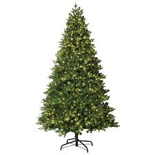 christmas tree with lights shop living 7 5 ft pre lit artificial christmas tree