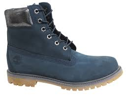 womens boots navy blue timberland af 6 inch premium lace up navy blue leather womens