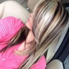 brown lowlights on bleach blonde hair pictures mybe with red or purple in stead of brown hair pinterest