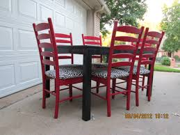 shabby chic dining table sets black dining table with red ladder back chairs lightly distressed