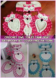 Crochet Owl Rug Diy Crochet Owl Toilet Tank Seat Bathroom Set Cover Free Pattern