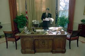 reagan oval office president ronald reagan alone in the white house oval office
