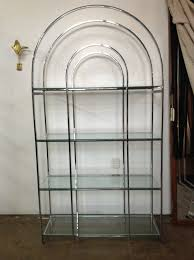 look of chrome and glass etagere