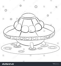 spacecraft flying saucer on surface unknown stock vector 185321636