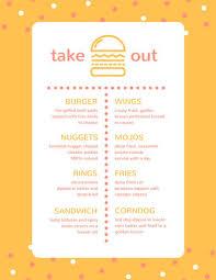 takeout menu template take out menu templates canva