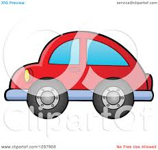 car toy clipart clipart of a red toy car facing left royalty free vector