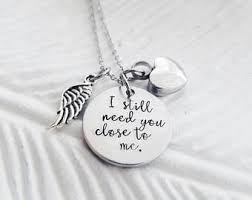 memorial necklace for ashes cremation jewelry etsy