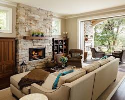 Living Room Fireplace Design  DECORATION - Living room with fireplace design
