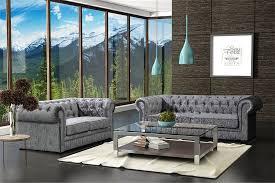 lovesofas camden chesterfield 3 2 seater crushed velvet sofa