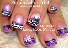 robin moses nail art pink nails with black and silver zebra