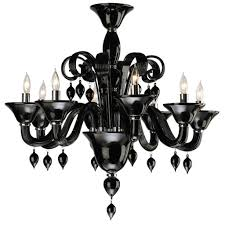 Black Chandelier Lighting by Splendid Black Chandelier Made Of Crystal And Glass Material
