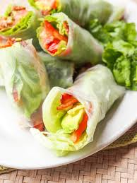 rice paper wrap blt lettuce wraps summer rolls with avocado gluten free dairy free