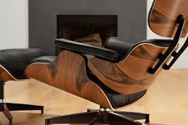 furniture excellent black leather eames lounge chair replica on