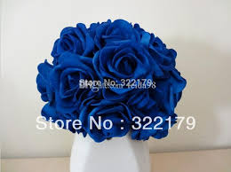 wedding flowers royal blue 100x artificial flowers royal blue roses for bridal bouquet