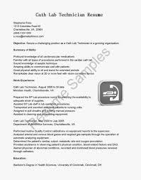 exle of simple resume cardiovascular technologist sle description tech resume