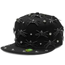 black 3d spider baseball cap halloween costume ffh315s02 us