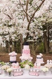 pink black and silver wedding cake table deer pearl flowers