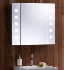 bathroom bathroom mirror cabinet with lights and shaver socket