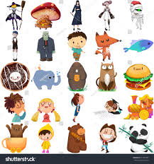 boy animal set stock illustration 417997867