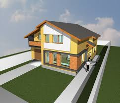 small house 3d elevation and 3d design exterior european house