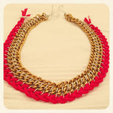 gold braided chain necklace images Diy woven chain necklace frankly my dear jpg