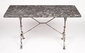 White Bistro Table French Antique Marble Top Cast Iron Bistro Table At 1stdibs