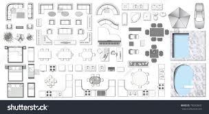 set top view interior icon design stock vector 730303942
