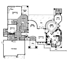 adobe floor plans daytona southwestern style home plan 047d 0164 house plans and more