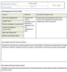 monitor and control risks project templates project management