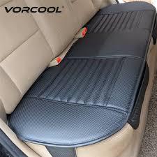protection siege auto arriere vorcool auto intérieur accessoire pu en cuir de charbon de bois de
