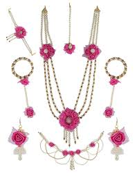 pink coloured beads necklace images Buy pink colour handmade jewelry styled with pearl beads flower jpeg